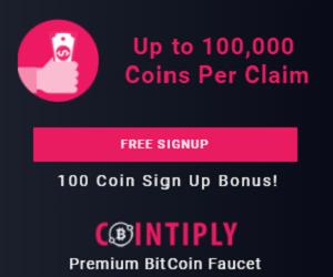Cointiply.com Bitcoin Faucet