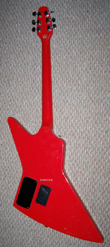 1980s Cort Effector, Explorer Body Shape: Back