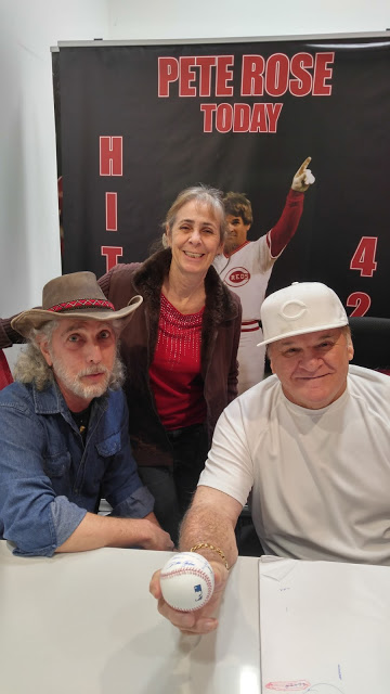 Ed Perrone, Vicky Perrone, Pete Rose and Ed's ball