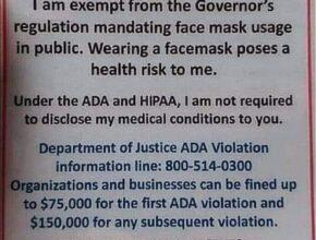 Anti-facemask propaganda